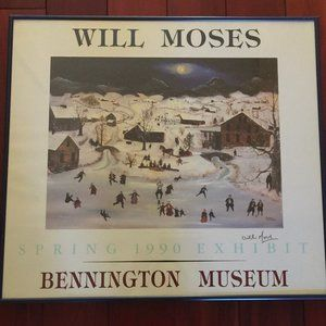 Signed Framed Will Moses Benington Museum 1990